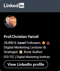 Prof.Christian Farioli LinkedIn